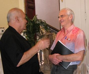 El Dr Mario Moncayo y el Dr Diego Jacques